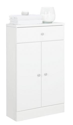 UNDERSKÅP - vit/kromfärg, Klassisk, träbaserade material (50/82/20cm) - Xora