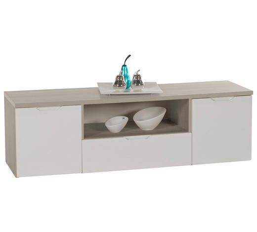 TV ELEMENT - bijela/boje hrasta, Design, drvni materijal (136/42/40cm) - Boxxx