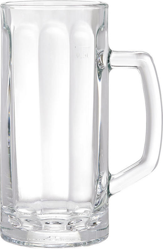 BIERKRUG 500 ml - Klar, KONVENTIONELL, Glas (0,5l) - Homeware