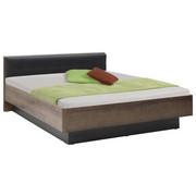 BETT 180 cm   x 200 cm   in Holzwerkstoff Eichefarben, Schwarz - Eichefarben/Schwarz, Design, Holzwerkstoff/Textil (180/200cm) - Carryhome