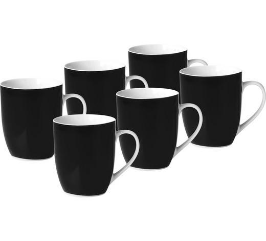 Kaffeebecherset 6 Teilig Keramik Porzellan Schwarz Weiß Online