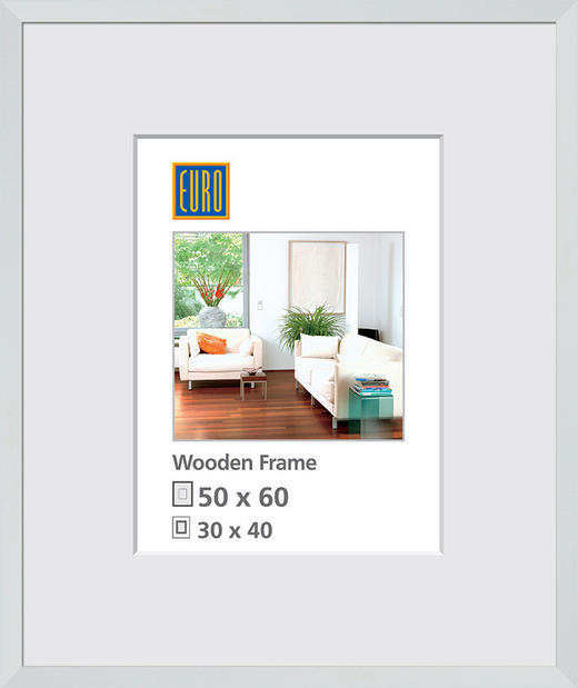 OBRAZOVÝ RÁM 50X60 - bílá, Basics, dřevo/sklo (50/60/3cm)