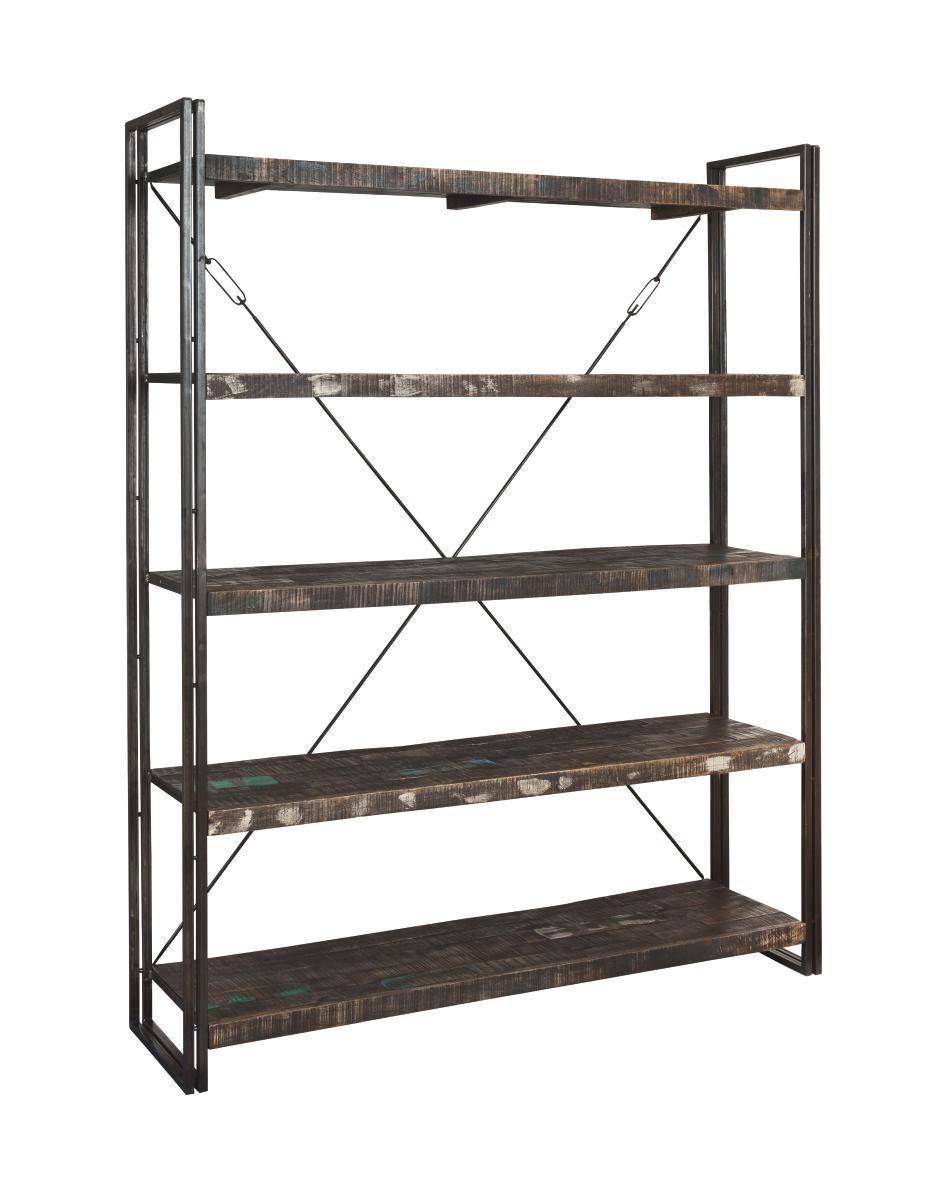 HYLLA - brun, Design, metall/trä (160/200/40cm)