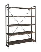 REGÁL - hnědá, Design, kov/dřevo (160/200/40cm)