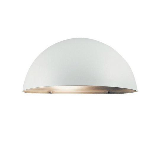 AUßENLEUCHTE Weiß - Weiß, Design, Kunststoff/Metall (20/10cm)