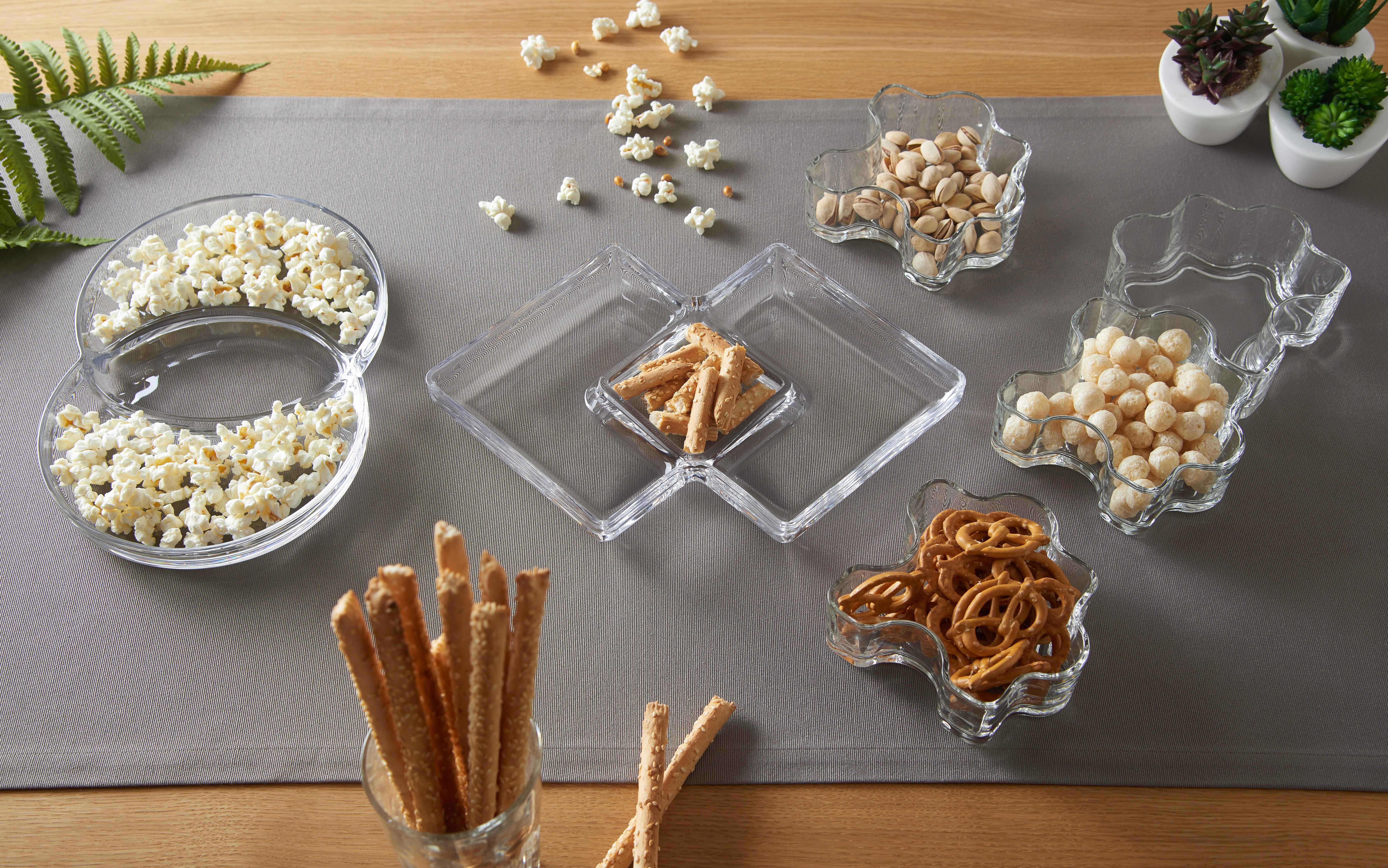 SNACKSCHALE - Transparent, Basics, Glas (27/18/3,50cm) - LEONARDO