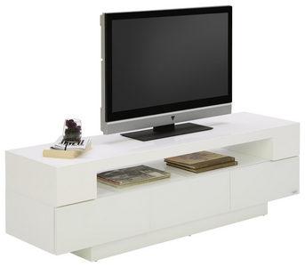 MEDIABÄNK - vit, Design, glas/träbaserade material (150/45/40cm) - Xora