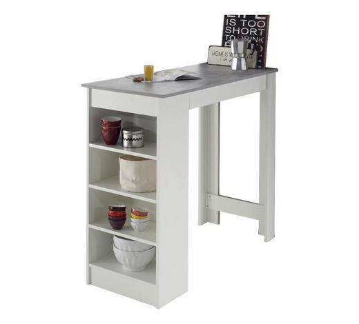 BARTISCH rechteckig Grau, Weiß  - Weiß/Grau, Design (115/50/103cm)