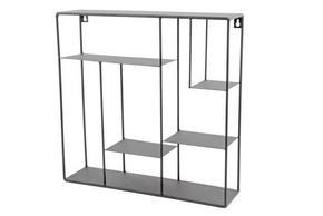 VÄGGHYLLA - svart, Design, metall (40/40/10cm)