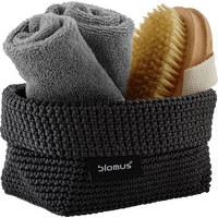 AUFBEWAHRUNGSKÖRBCHEN - Anthrazit, Basics, Textil (10/9/15cm) - Blomus