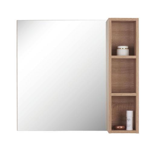 SPIEGEL - Eichefarben, Design, Glas/Holzwerkstoff (70/65/15,5cm) - Xora