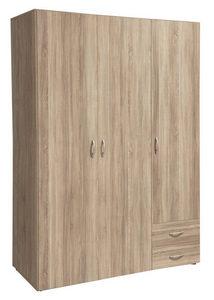 ORMAR SA KLASIČNIM VRATIMA - Boja aluminijuma/Sonoma hrast, Konvencionalno, Plastika/Drvo (120/177/52cm) - Boxxx