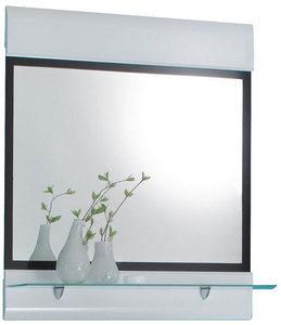 ZIDNO OGLEDALO - Crna/Bela, Dizajnerski, Staklo/Pločasti materijal (75/87cm) - Xora
