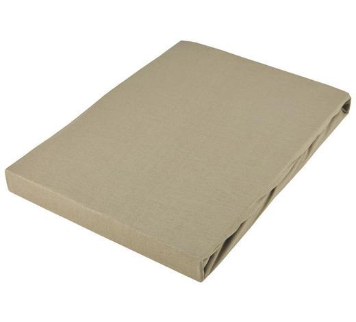 PROSTĚRADLO NAPÍNACÍ, žerzej, 180/200 cm - šedohnědá, Basics, textil (180/200cm) - Novel