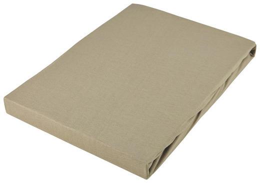 SPANNBETTTUCH Jersey Braun bügelfrei, für Wasserbetten geeignet - Braun, Basics, Textil (100/220cm) - Novel