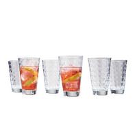 GLÄSERSET 6-teilig - Klar, Trend, Glas (24,5/13,4/16,4cm) - Leonardo