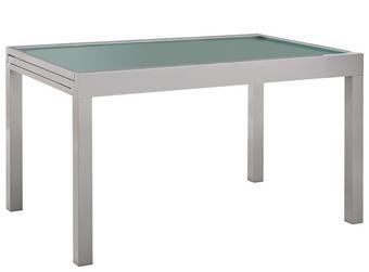 ZAHRADNÍ STŮL - barvy stříbra, Design, kov/sklo (135(270)/90/75cm) - Ambia Garden