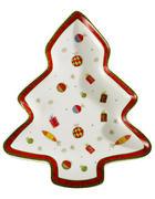 SERVIERPLATTE - Multicolor, Basics, Keramik (22,86cm) - X-Mas
