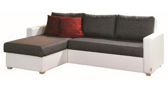 SJEDEĆA GARNITURA - bijela/siva, Design, tekstil (230/155cm) - Xora