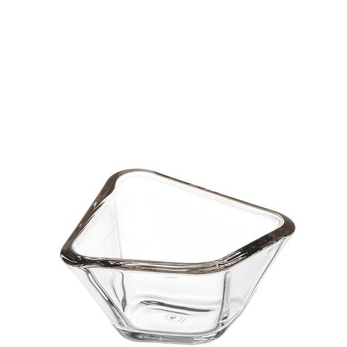 SCHALE - Grau, Glas (13,20/7,30/13,20cm) - LEONARDO