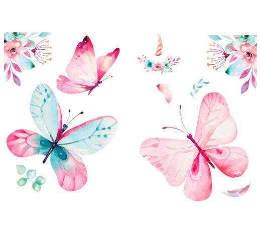 Tiere WANDTATTOO  - Multicolor, Basics, Kunststoff (25/35/0,10cm)
