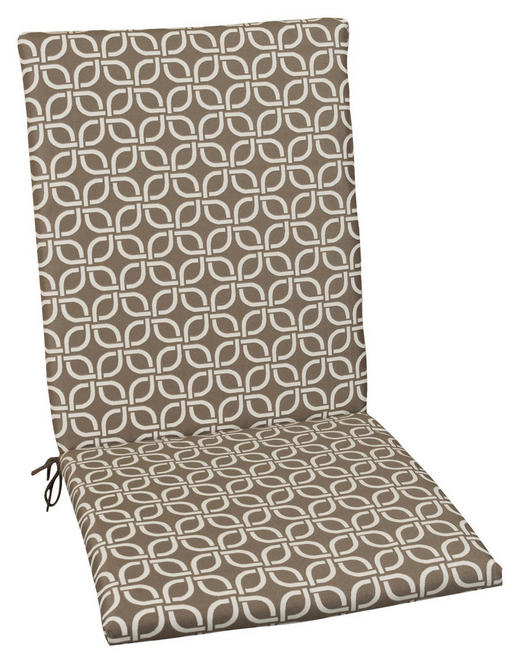 SESSELAUFLAGE Graphik - Taupe, Design, Textil (50/109/4cm)
