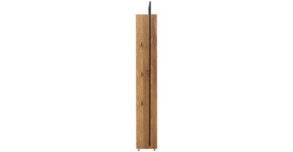 WANDGARDEROBE - Eichefarben/Anthrazit, Natur, Holz/Metall (28,8/210,3/38,4cm) - Valnatura