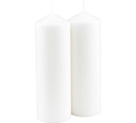 STUMPENKERZE 6,7/20 cm - Weiß, Basics (6,7/20cm) - Steinhart