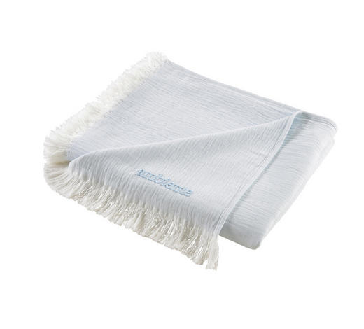 WOHNDECKE 130/170 cm - Blau/Weiß, KONVENTIONELL, Textil (130/170cm) - Ambiente