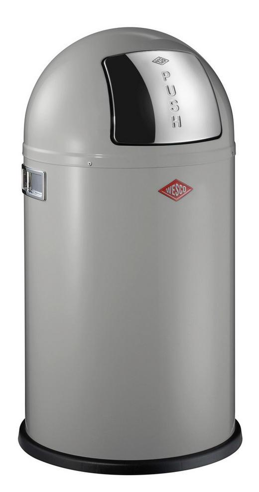 ABFALLSAMMLER PUSHBOY JUNIOR 22 L - Edelstahlfarben/Grau, Basics, Kunststoff/Metall (36,5/36,5cm) - Wesco
