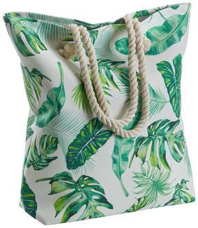 STRANDVÄSKA - grön, Design, textil (12/47/43cm)