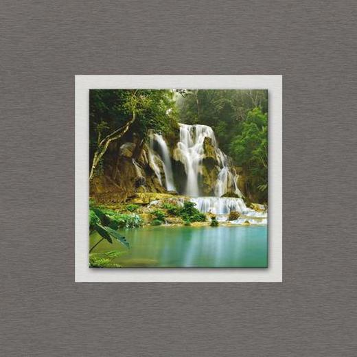 Wasser ALUMINIUMBILD - Multicolor, KONVENTIONELL, Glas/Metall (50/50/3cm) - Eurographics