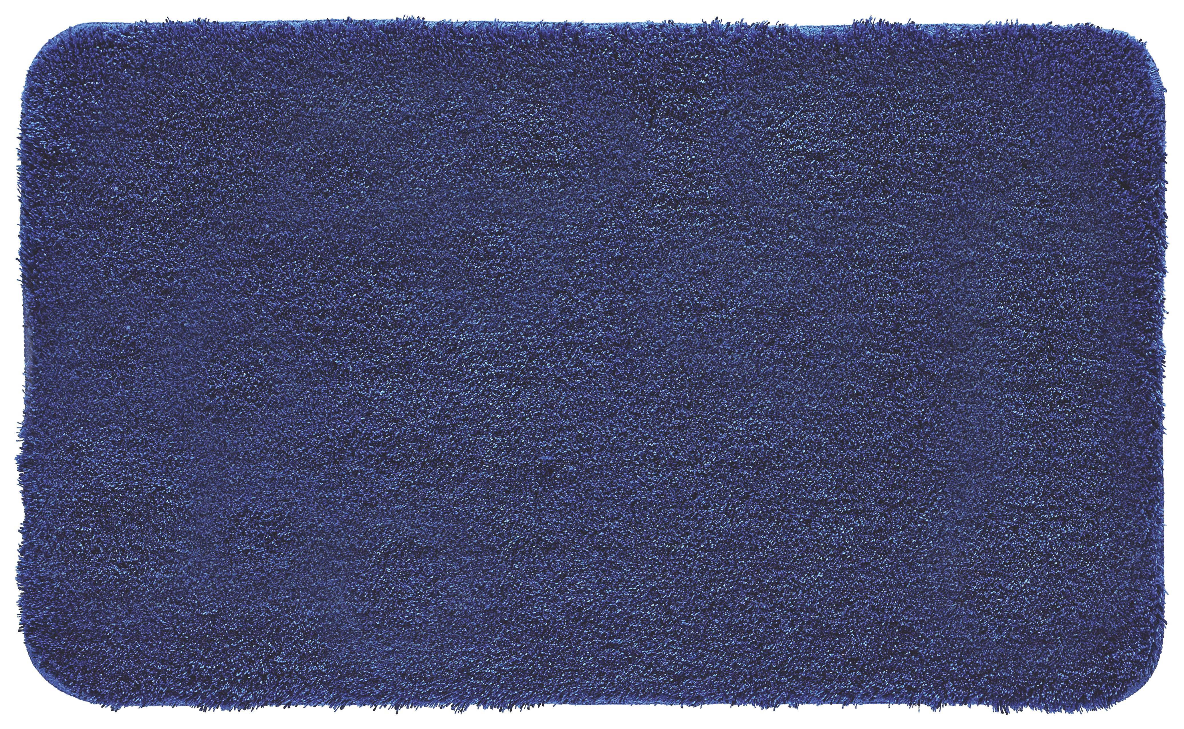 BADTEPPICH  Dunkelblau  60/100 cm - Dunkelblau, Kunststoff/Textil (60/100cm) - KLEINE WOLKE