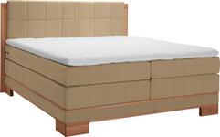 BOXSPRINGBETT 140 cm   x 200 cm   in Holz, Textil Buchefarben, Hellbraun - Hellbraun/Buchefarben, Natur, Holz/Textil (140/200cm) - Linea Natura