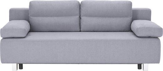SCHLAFSOFA Webstoff Hellgrau - Hellgrau/Alufarben, Design, Kunststoff/Textil (204/70/80/94cm) - Carryhome