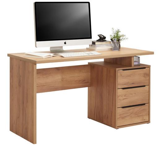 PISAĆI STOL  boje hrasta  drvni materijal  - boje hrasta/crna, Konvencionalno, drvni materijal/metal (138/76/60cm) - Venda