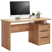 PSACÍ STŮL - černá/barvy dubu, Konvenční, kov/dřevěný materiál (138/76/60cm) - Venda