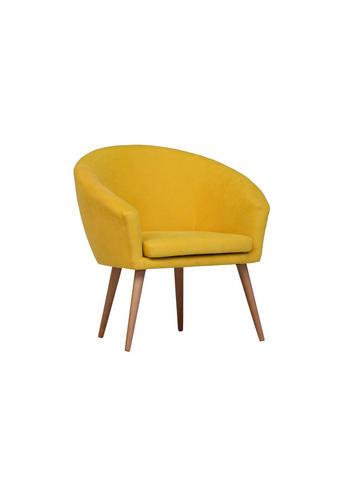 FOTELJ,  rumena tekstil - naravna/rumena, Design, tekstil (73/73/43/66cm) - Carryhome
