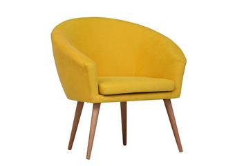 FOTELJA - žuta/natur boje, Design, tekstil (73/73/43/66cm) - Carryhome