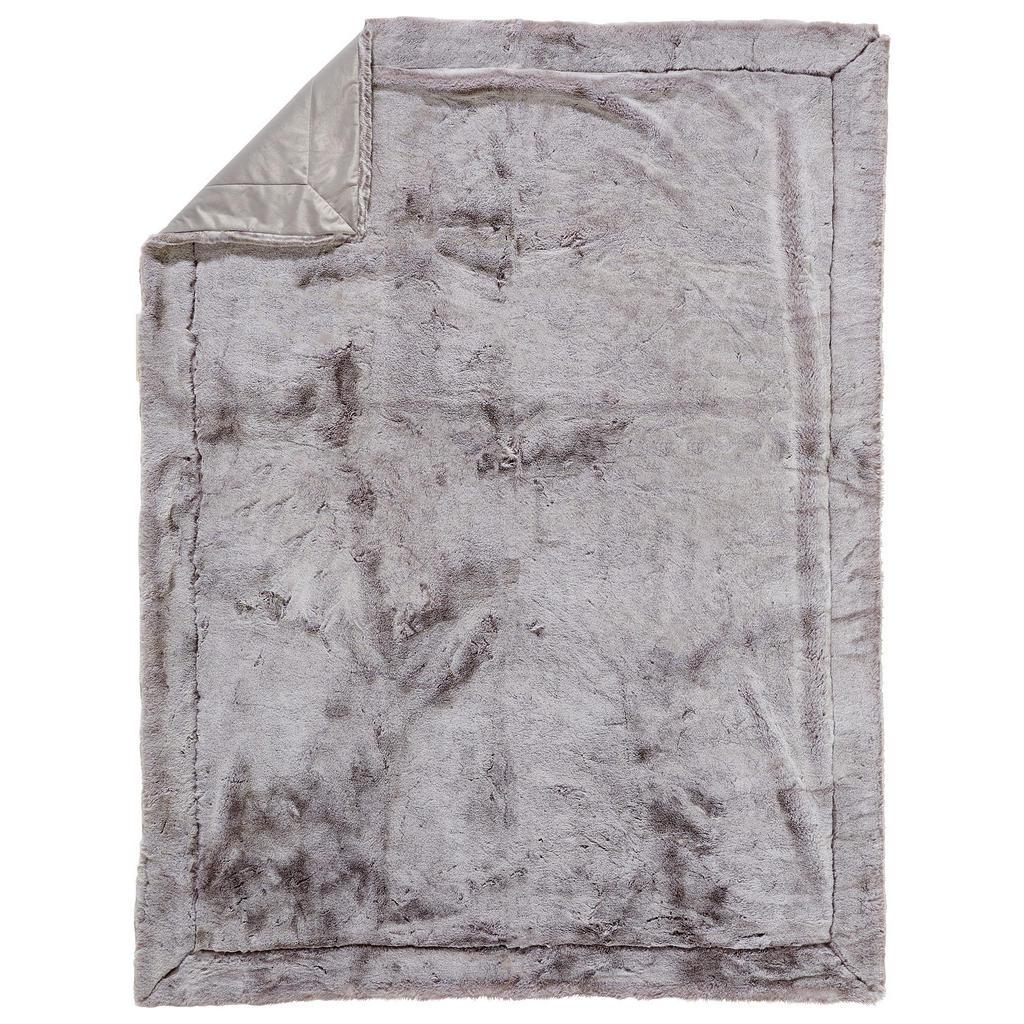 Ambiente Felldecke 150/200 cm silberfarben