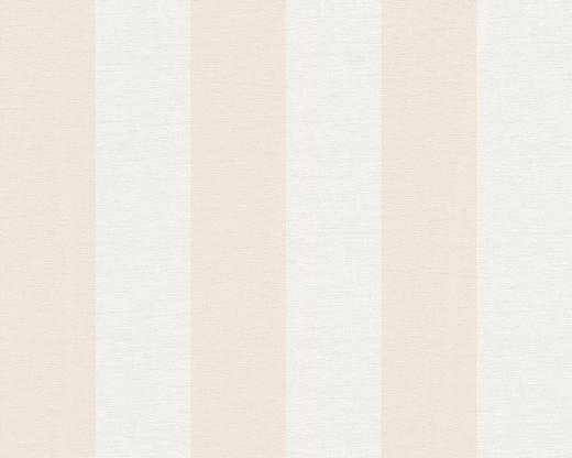 VLIESTAPETE 10,05 m - Beige/Weiß, Design, Textil (53/1005cm)