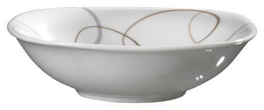 SCHÜSSEL Keramik Porzellan - Braun/Weiß, Basics, Keramik (14/14/4cm) - Ritzenhoff Breker