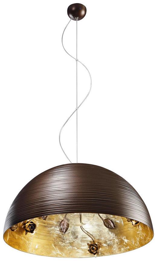 HÄNGELEUCHTE - Goldfarben/Braun, LIFESTYLE, Metall (40/20cm)