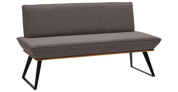 SITZBANK 160/87/64 cm  in Schwarz, Eichefarben, Dunkelbraun  - Eichefarben/Dunkelbraun, Design, Holz/Textil (160/87/64cm) - Voleo