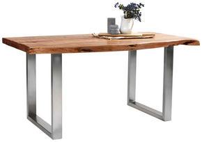 MATBORD - akaciefärgad/rostfritt stål-färgad, Lifestyle, metall/trä (160/90/77cm) - Landscape