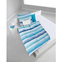 BETTWÄSCHE Mikrofaser Blau 135/200 cm  - Blau, Design, Textil (135/200cm) - Boxxx