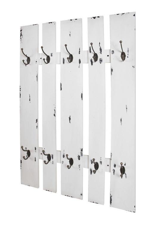 WANDGARDEROBE Weiß - Weiß, Basics, Metall (65/100/9cm)