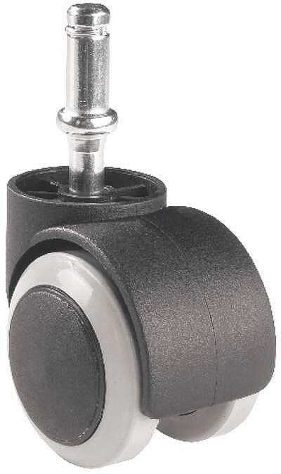 DREHSTUHLROLLE - Schwarz/Grau, Basics, Kunststoff/Metall