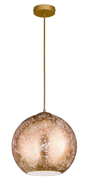 Hängeleuchte - Goldfarben, Lifestyle, Glas/Metall (30/150cm)