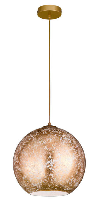 TAKLAMPA - guldfärgad, Lifestyle, metall/glas (30/150cm)